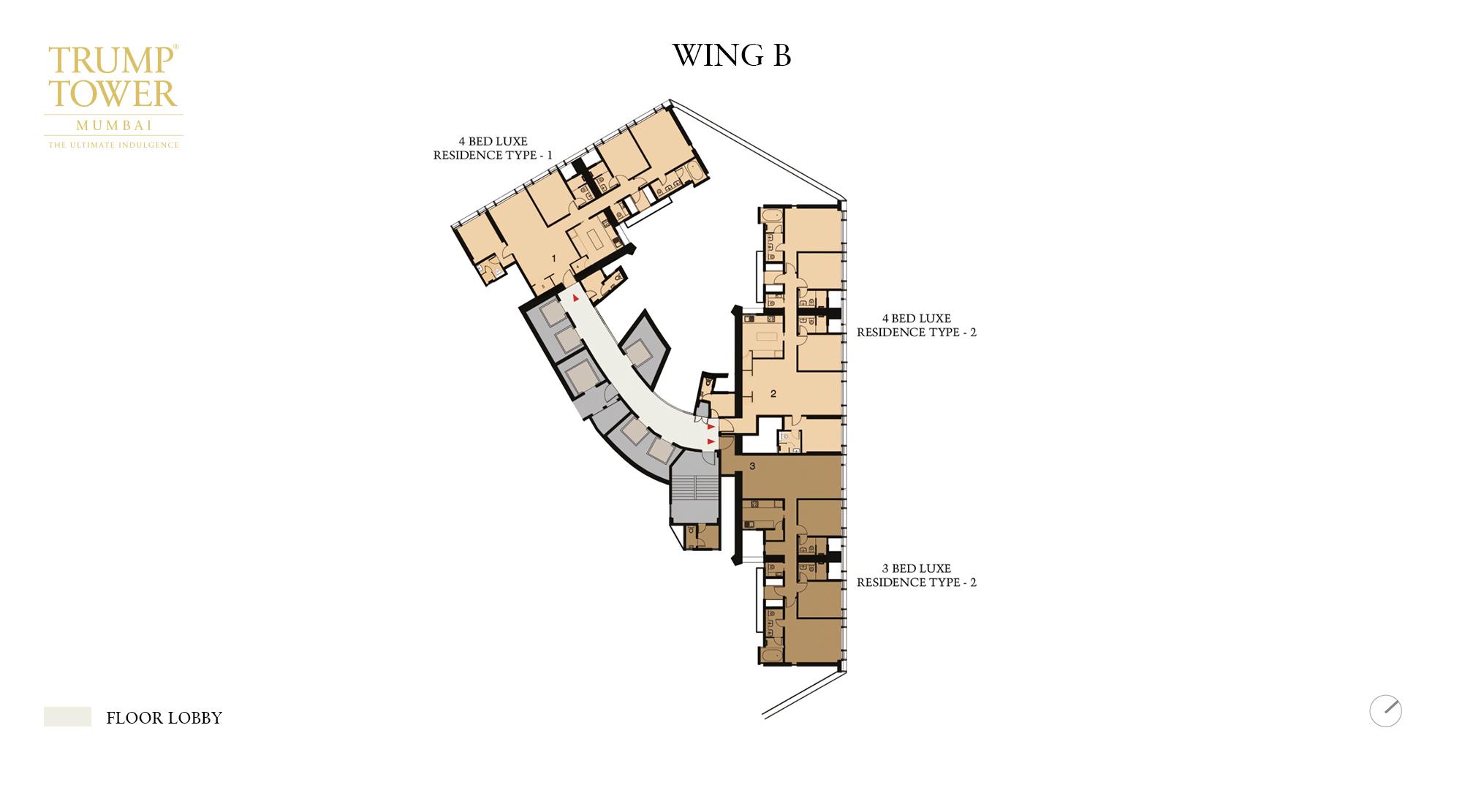 Trump Tower - B Wing Floor Plan