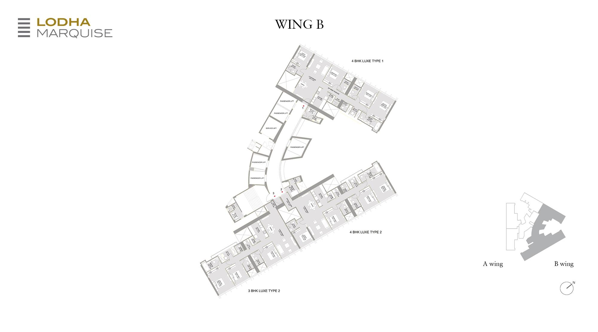 Marquise - B Wing Floor Plan