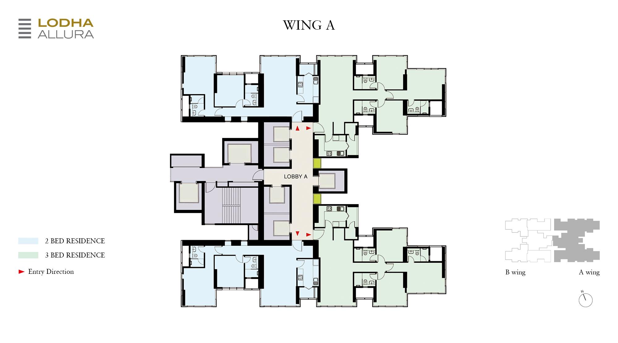 Allura - A Wing Floor Plan